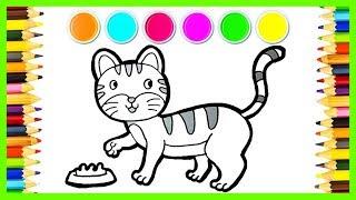 96+ Gambar Mewarnai Binatang Kucing HD Terbaik