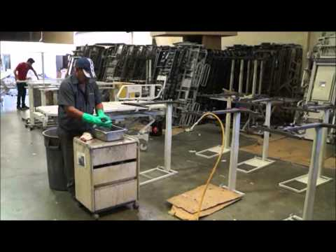 Refurbished Hospital Bed Furniture Bed Side Tables and Cabinets