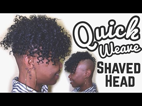 Quick Weave On Shaved Head