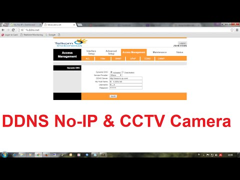 Configuring DDNS No-IP And Port Forwarding CCTV Camera on Modem ZTE