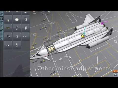 School Project KSP supersonic plane build timelapse