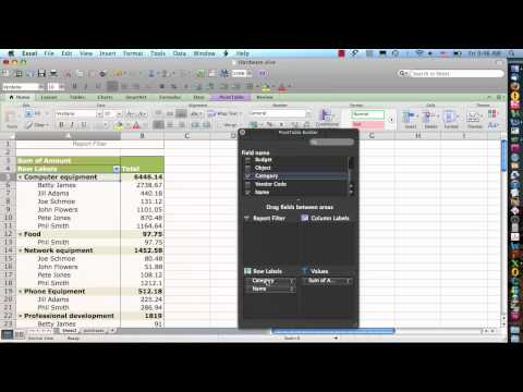 Excel 2011 for Mac  Pivot Tables Step 2