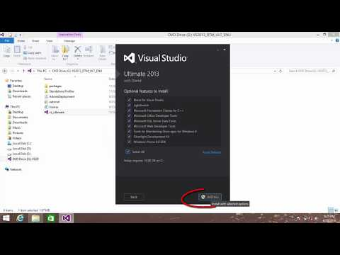How to download and install visual studio 2013