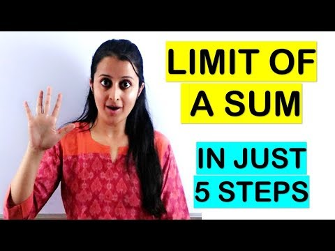 LIMIT OF A SUM - DEFINITE INTEGRATION || 4 OR 6 MARKS IMPORTANT QUESTION |