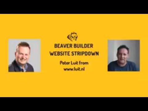 Beaver Builder Website Stripdown #11 - Peter Luit from www.luit.nl