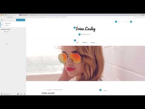 How to change your site identity, header image, colors and widgets for Blaskan theme