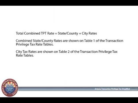 Finding the Correct Arizona Transaction Privilege Tax Rate
