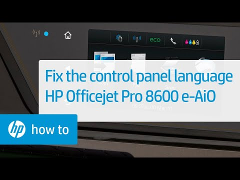 Control Panel Shows the Wrong Language | HP Officejet Pro 8600 e-All-in-One Printer | HP