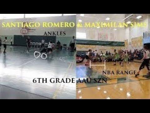 Maximilian Sims & Santiago Romero Full AAU Season Mixtape | THEY GOT RANGE