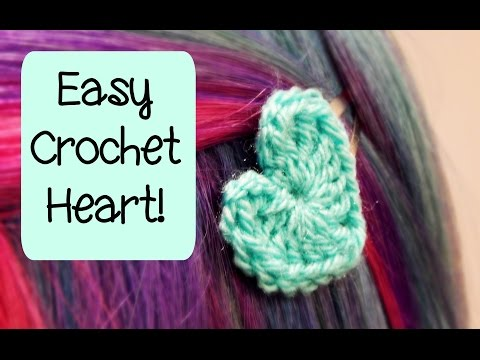 DIY Easy Crochet Heart How To! ¦ The Corner of Craft