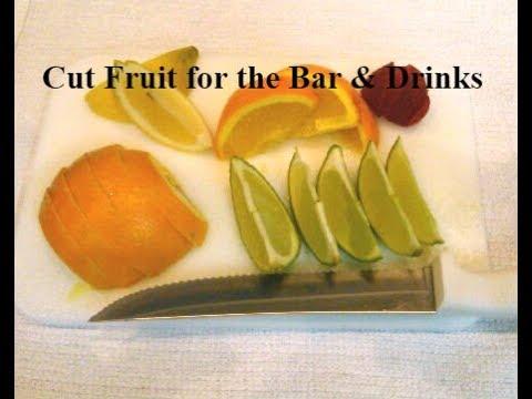 Cut Fruit for Bar - Orange wedge Lime/Lemon - Garnish your drinks