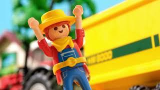 Playmobil Tracteur et animaux jouent dans la ferme de jouets Film pour enfants - Farm Toys for kids