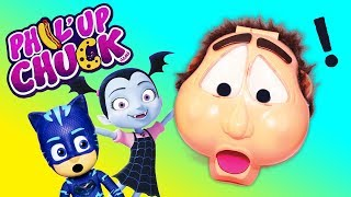 PHIL UP CHUCK Game Vampirina Plays Paw Patrol Marshall with the Assistant Family Game