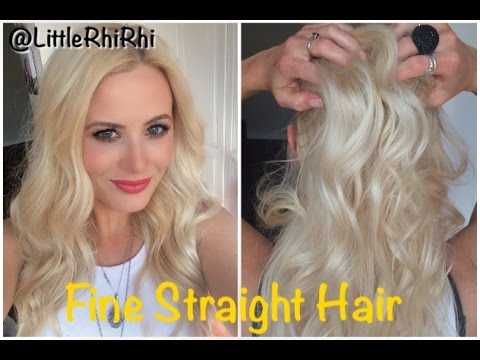 How To Curl + Care For Fine Straight Hair