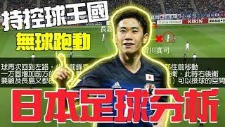 日本足球戰術分析/持控球風格/無球跑動
