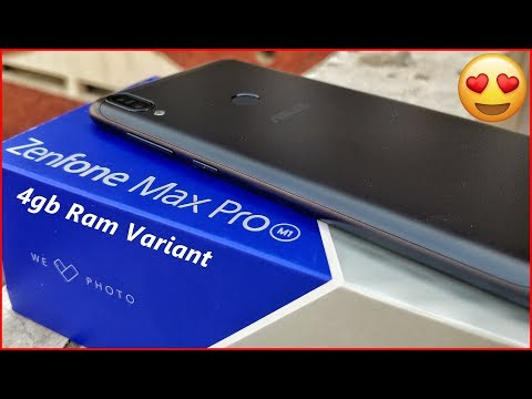 Asus Zenfone Pro Max M1 Unboxing & Impressions [4gb Ram | 18:9 Display]