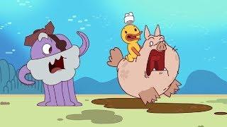 Download Новые мультики для детей - Капитан Кракен - Свинья-талисман + Глупость - Смешные мультфильмы Video