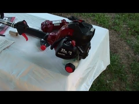 New Craftsman Gas Weed Trimmer with Electric Starter - Unboxing and First Start