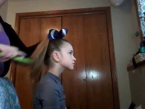 Cheer Hair - Slicked Back High Ponytail