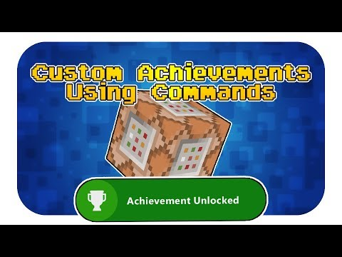 Minecraft Custom Achievements - Command block tutorial