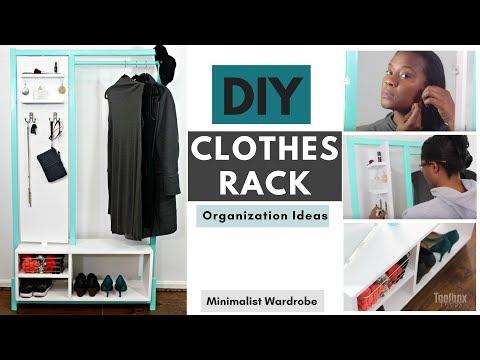 DIY Minimalist Clothes Rack | Closet Organization Ideas (2018)