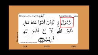 Surah Al Baqarah, The Cow, Surah 002, Verse 214, Learn Quran word by word translation