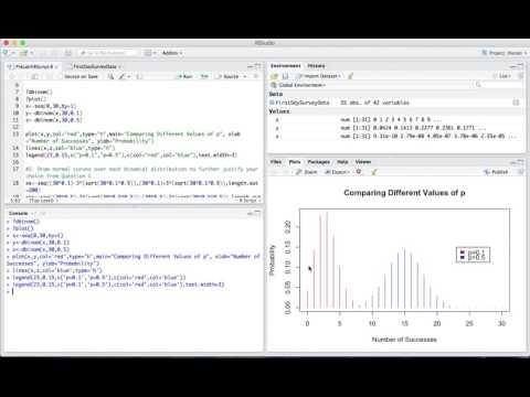 AP Statistics | RStudio Binomial/Geometric Probability & Sampling Distributions