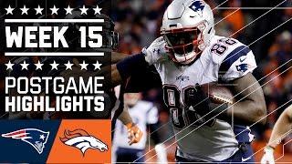 Patriots vs. Broncos | NFL Week 15 Game Highlights