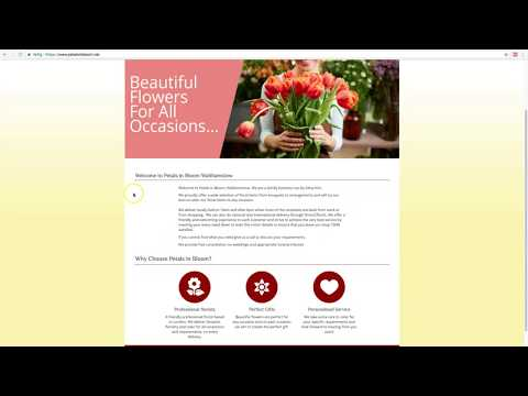 Flower Delivery Online Site Review of Petals in Bloom London Florist