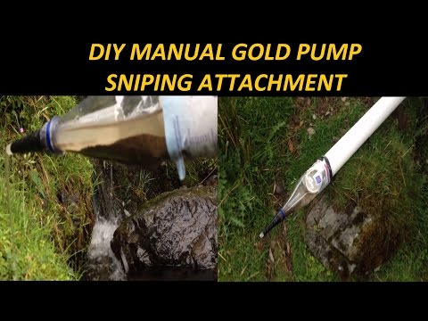 DIY Gold Dredge Sniping Attachment In Action Sniping Gold From Waterfalls