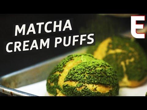 Making White Chocolate-Stuffed Matcha Cream Puffs at NYC's Bibble & Sip - The Process