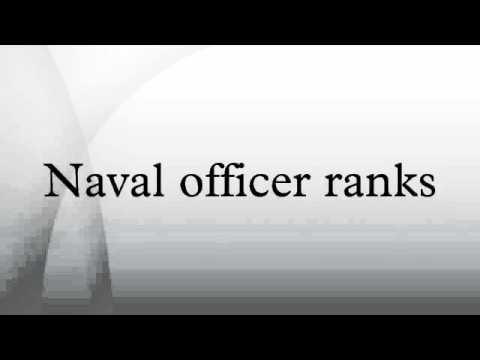 Naval officer ranks