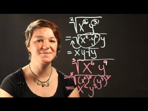 How to Simplify Radicals With All Variables Representing Positive Numbers : Radical Numbers
