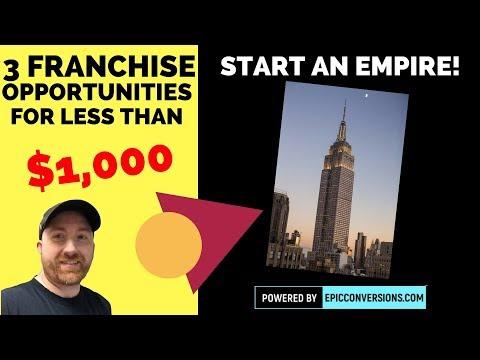 3 Franchises You Can Start For Less Than $1,000 Bucks!