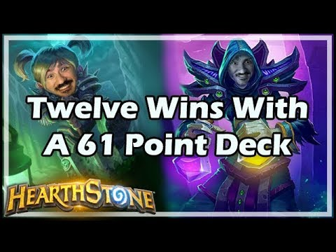 [Hearthstone] Twelve Wins With A 61 Point Deck