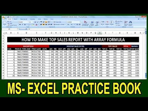 Exercise 86 | How To Make Yearly Top Sales Report With Array Formula In Ms Excel