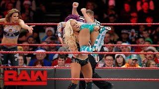 Sasha Banks, Bayley, & Mickie James vs. Absolution - Six-Woman Tag Team Match: Raw, Dec. 25, 2017
