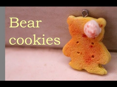 ♡bear cookies { with clay } tutorial♡