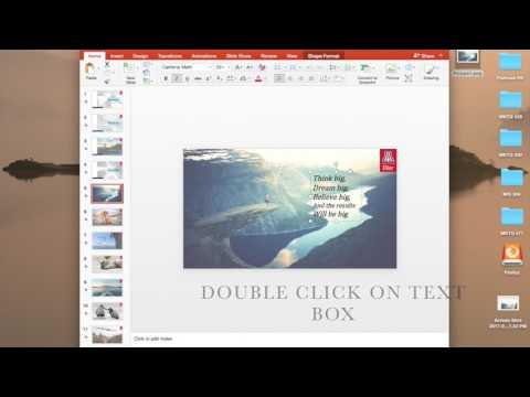 PowerPoint - Transparent Text Box Method 1