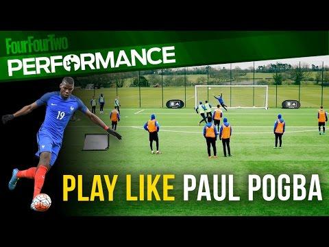 How to play like Paul Pogba   Run the midfield   Soccer shooting drill