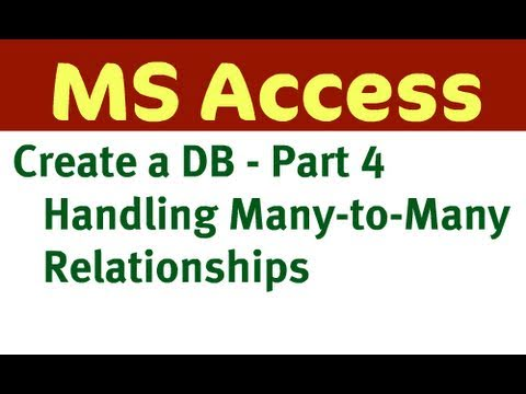 Create Access Database - Part 4 (Table Relationships)
