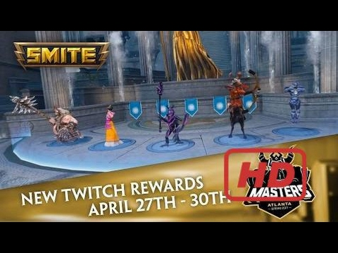 SMITE Masters - Twitch Drops - Exclusive Skins (April 27th - 30th)