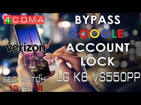 LG K8 Verizon Google Account Bypass | VS500PP | October 2016 | 6.0.1 | How to