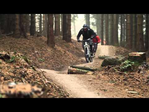 Mountain Biking at Coed Llandegla, North Wales.