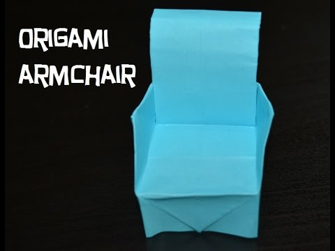 How to make a paper Armchair (Christmas decorations)