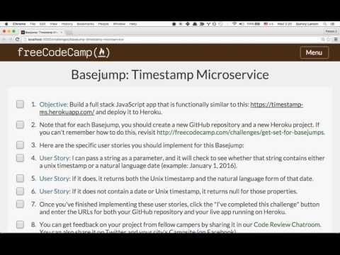Build a Timestamp Microservice