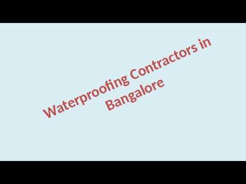 Waterproofing Contractors in Bangalore