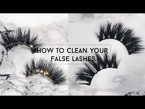 How To Clean False Eyelashes Like New! ➫ ISABELLEKATEGM