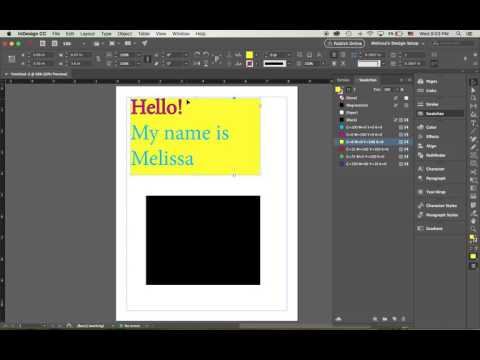 Assigning color to text and shapes in InDesign
