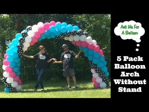 5 Pack Balloon Arch - Balloon Decoration Tutorial